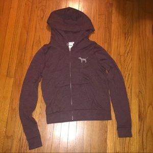 Dark purple VS Pink zip up hoodie size M